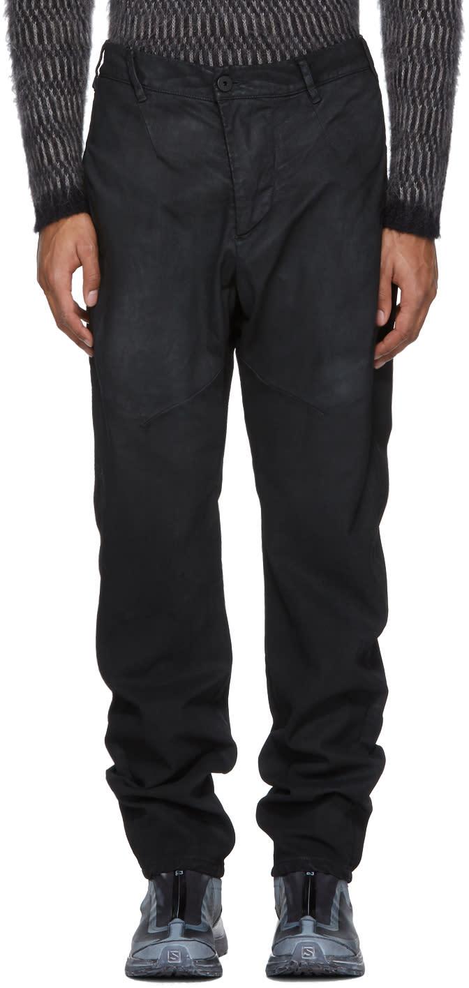 Image of 11 By Boris Bidjan Saberi Black Coated Trousers