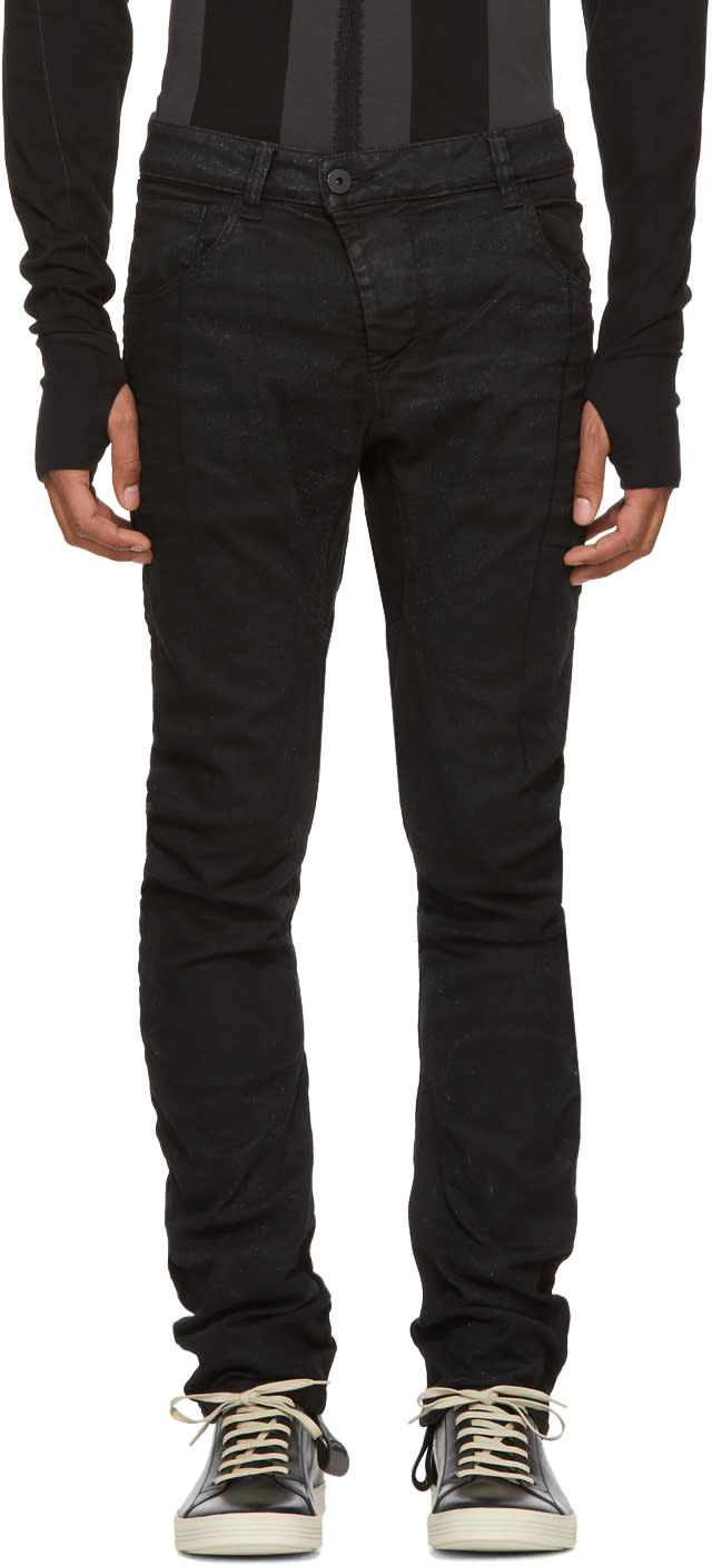 Image of 11 By Boris Bidjan Saberi Black Cotton Trousers