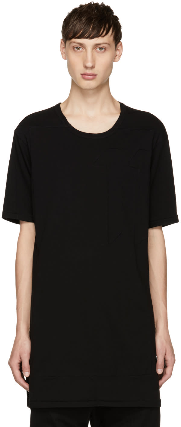 Image of 11 By Boris Bidjan Saberi Black Block Cut T-shirt