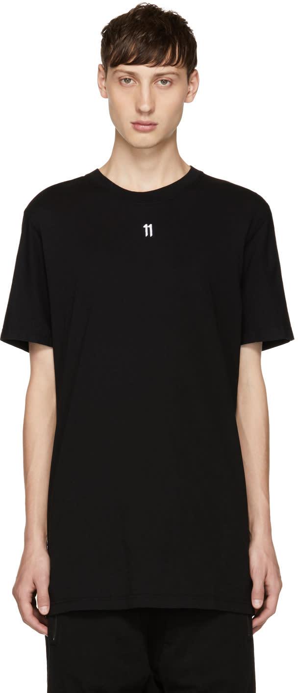 Image of 11 By Boris Bidjan Saberi Black Small Logo T-shirt