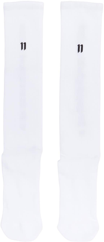 Image of 11 By Boris Bidjan Saberi White Logo and Type Socks