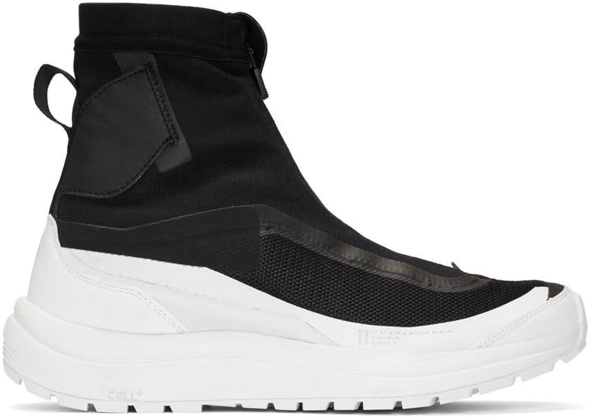 Image of 11 By Boris Bidjan Saberi Black and White Salomon Edition Bamba 2 Sneakers