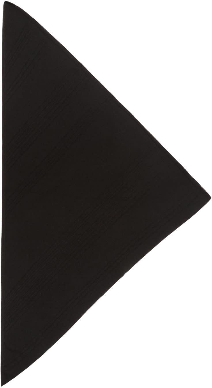 Image of Boris Bidjan Saberi Black Cashmere Foul 1 Scarf