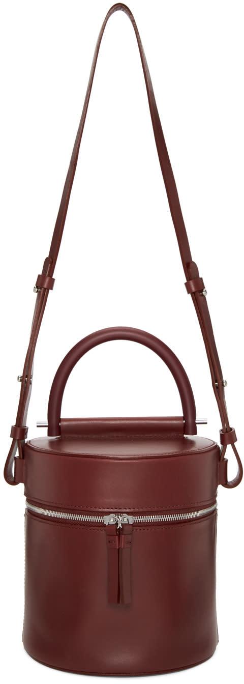 Image of Building Block Burgundy Drum Bucket Bag