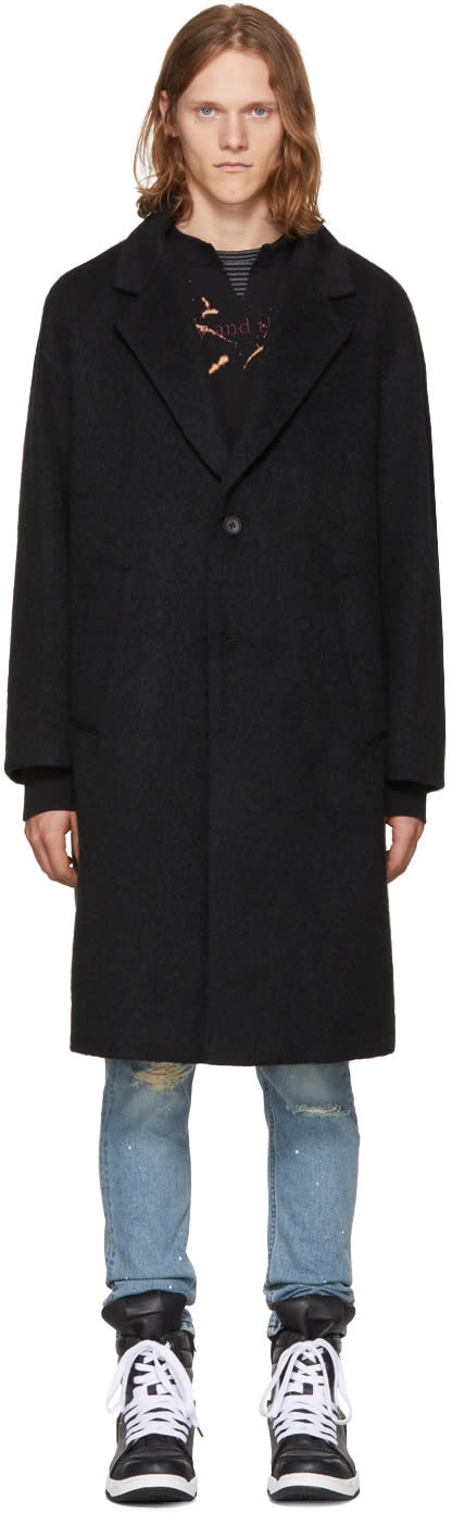 Image of Diet Butcher Slim Skin Black Oversized Wool Coat