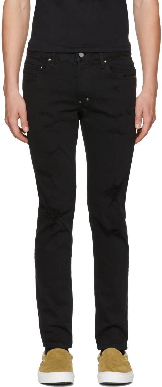 Image of Diet Butcher Slim Skin Black Damaged Skinny Jeans