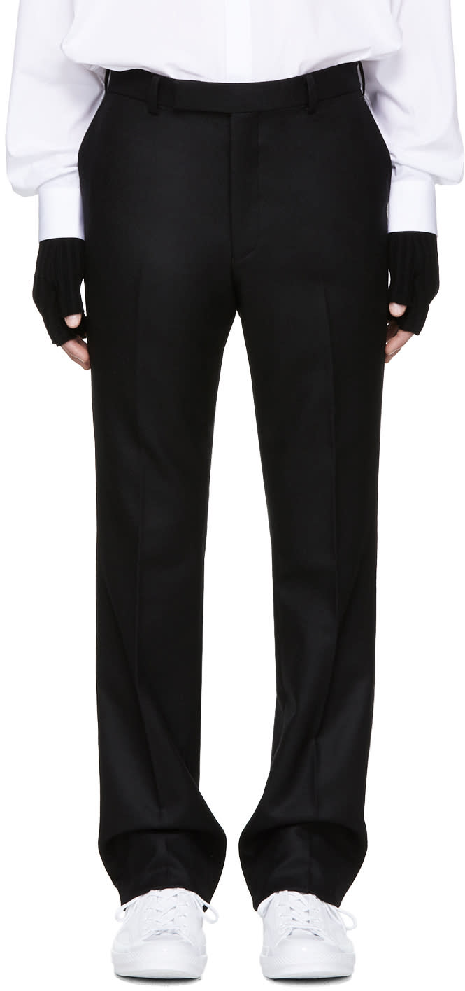 Image of Johnlawrencesullivan Black Wool Trousers