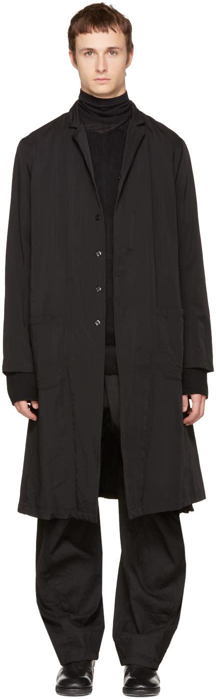 Image of Nude:mm Black Hand Print Coat