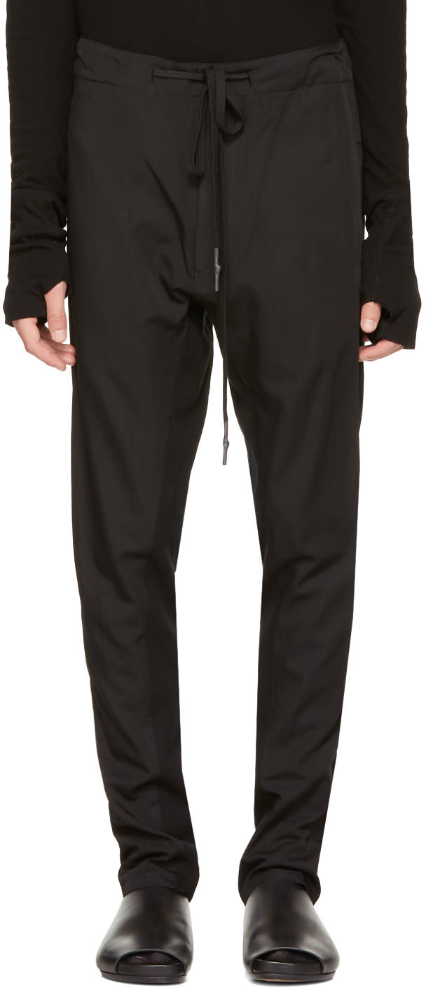 Image of Nude:mm Black Low Drawstring Trousers