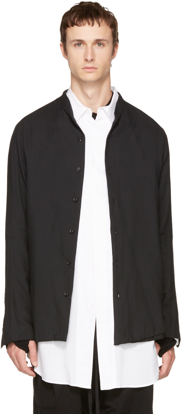 Image of Nude:mm Black Button-up Shirt