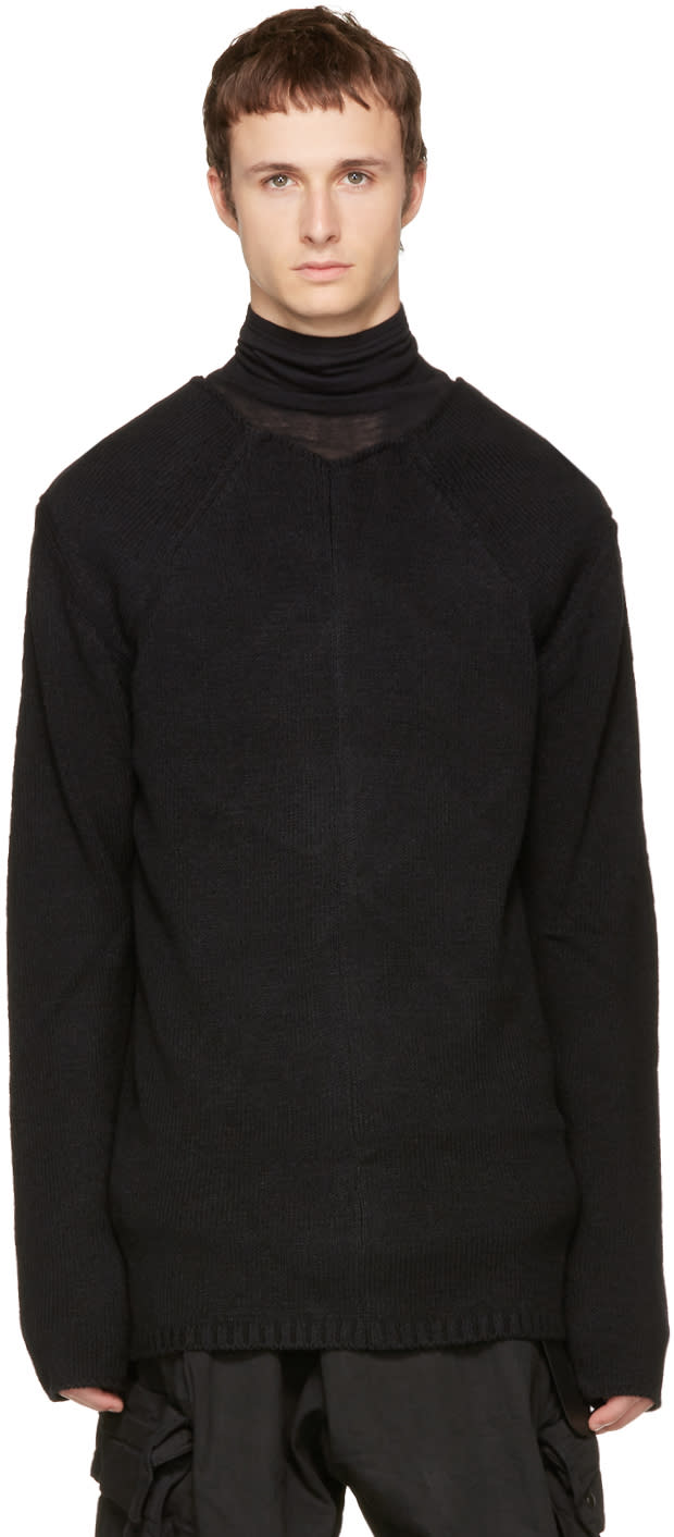 Image of Nude:mm Black High Neck Sweater