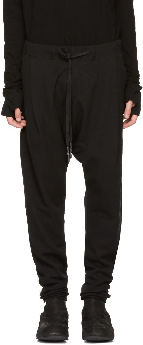 Image of Nude:mm Black Low Drawstring Lounge Pants
