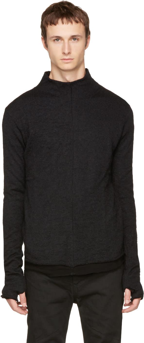 Image of Nude:mm Black Mock Neck Pullover