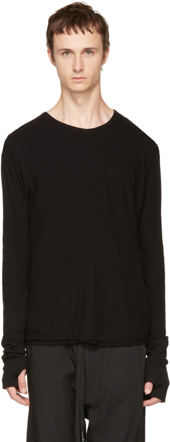 Image of Nude:mm Black Long Sleeve T-shirt