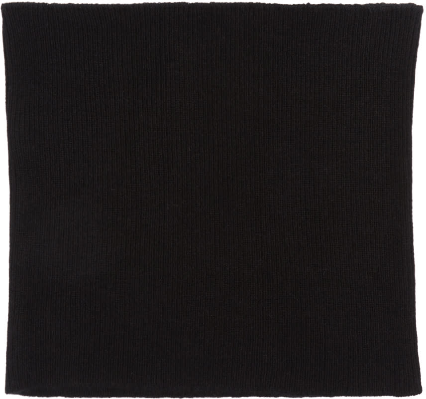 Image of Undecorated Man Black Belly Warmer Scarf