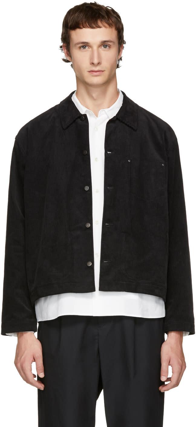 Image of Undecorated Man Black Corduroy Jacket