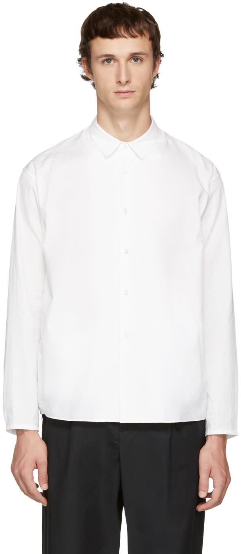 Image of Undecorated Man White Undecorated Shirt