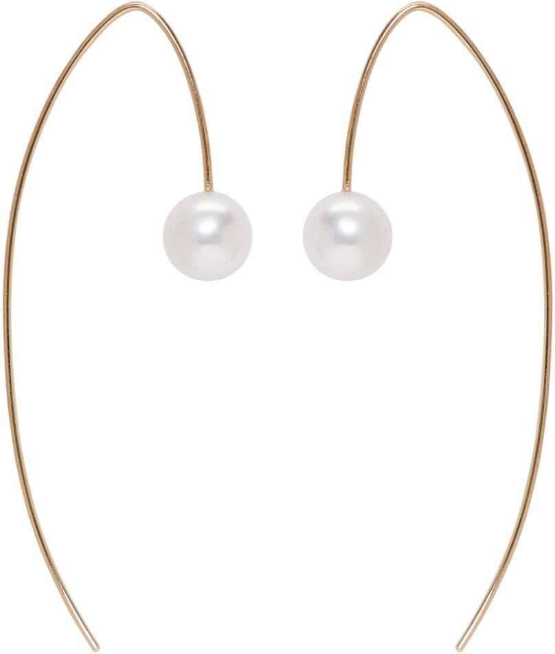 Image of Pearls Before Swine Gold Akoya Pearl Drop Earrings