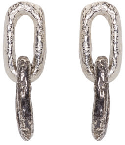 Pearls Before Swine Silver Double Link Earrings