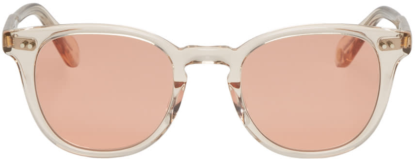 Image of Garrett Leight Beige Mckinley Sunglasses
