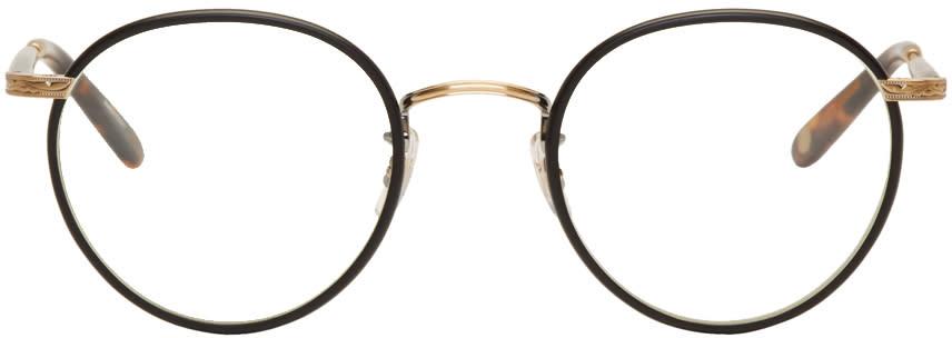 Image of Garrett Leight Black Wilson Glasses