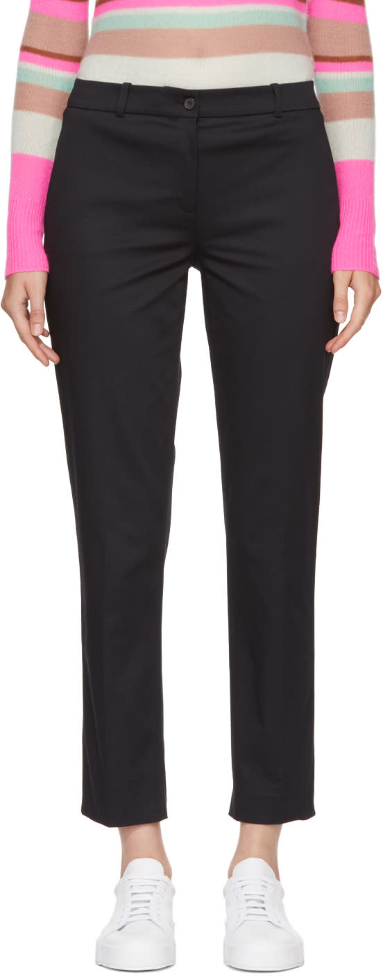 Image of Jil Sander Navy Navy Slim Trousers