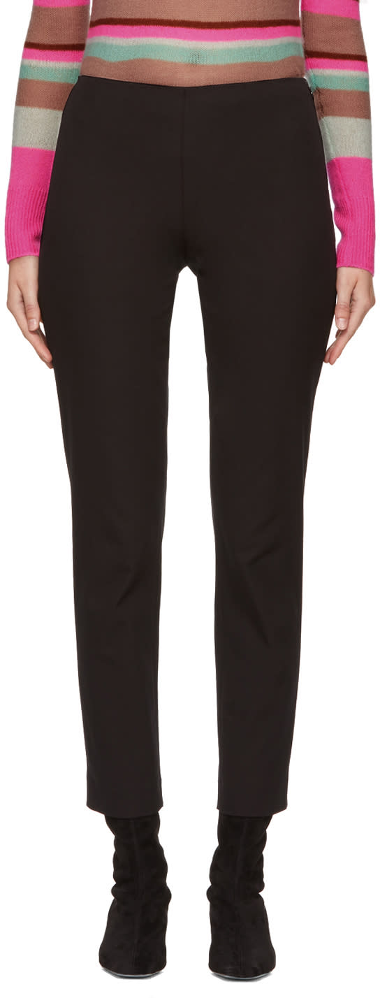 Image of Jil Sander Navy Black Legging Trousers
