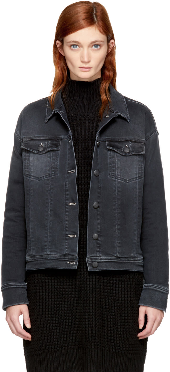 Image of Won Hundred Black Denim Jackie Jacket