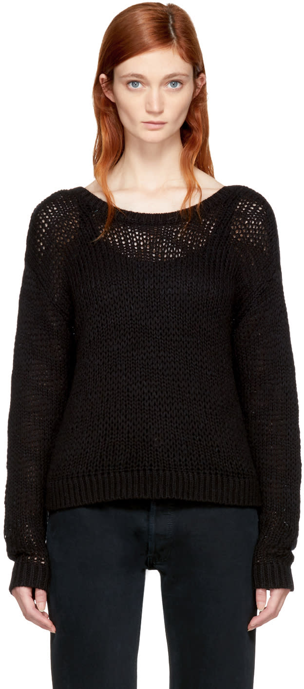 Image of Won Hundred Black Cropped Zarina Sweater