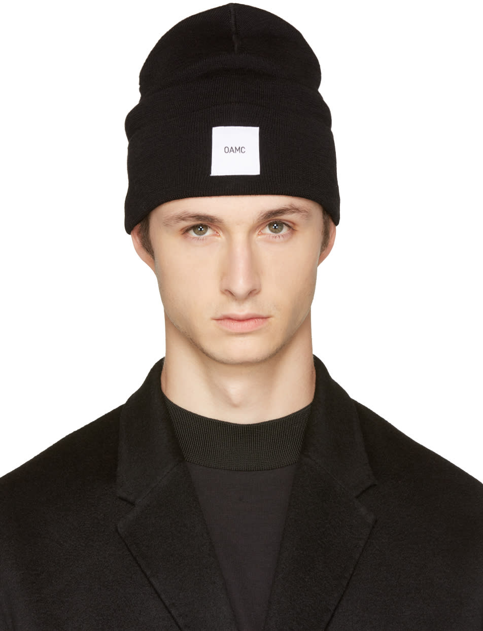 Image of Oamc Black Watch Logo Beanie