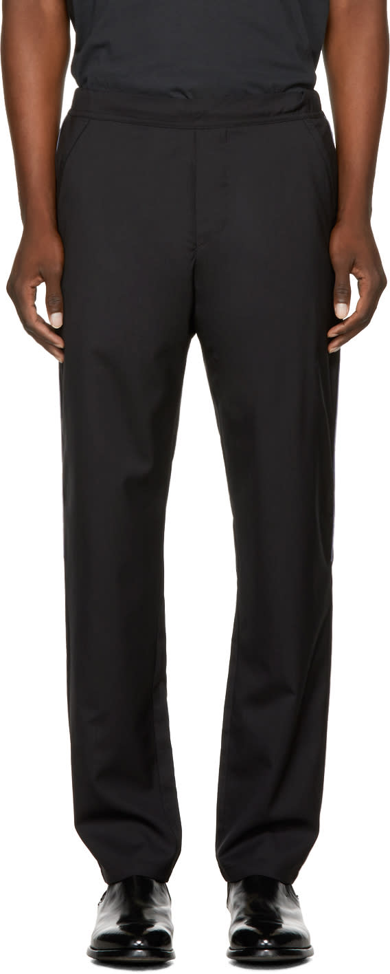 Image of Oamc Black Drawcord Trousers