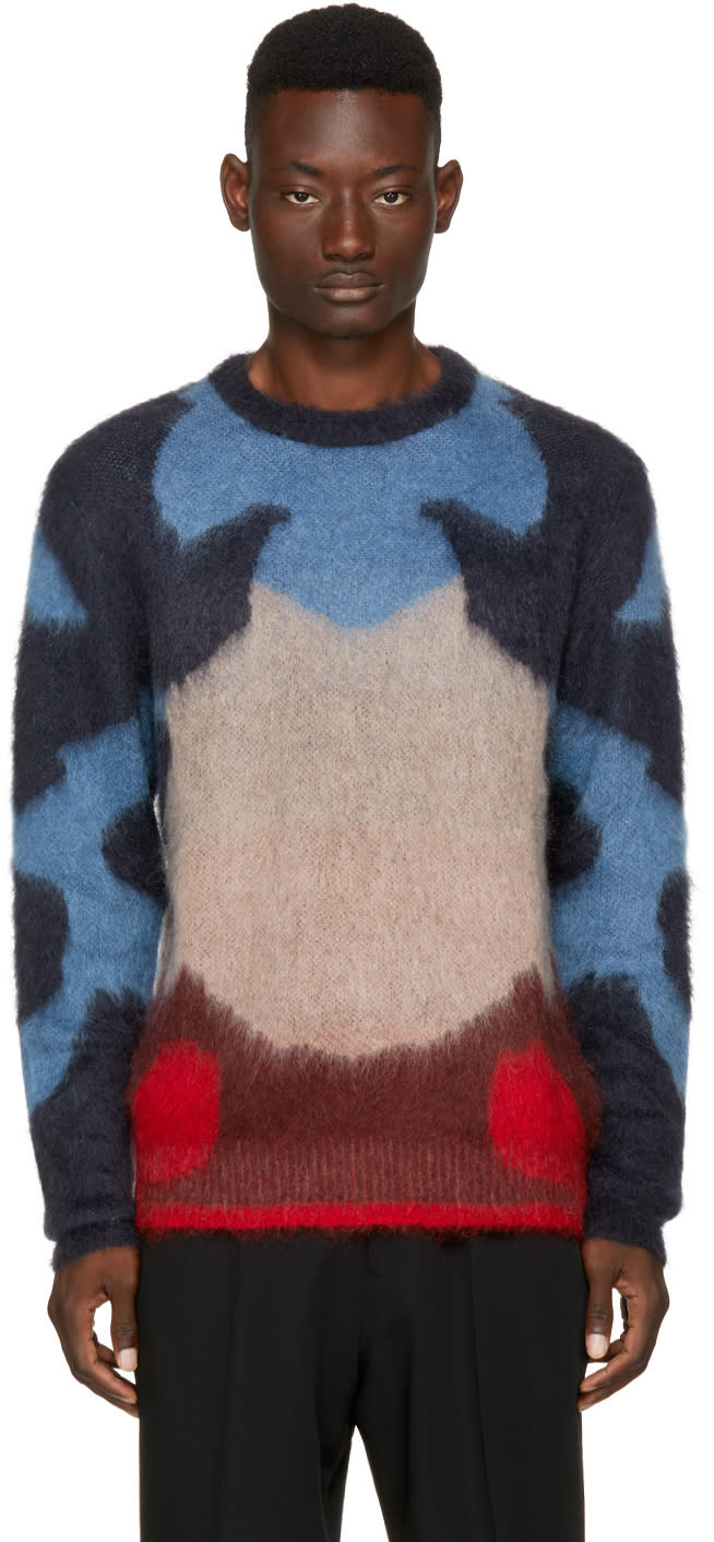 Image of Oamc Multicolor Mohair Moth Sweater