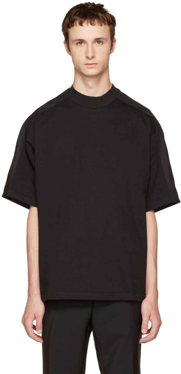 Image of Oamc Black Mock Neck T-shirt