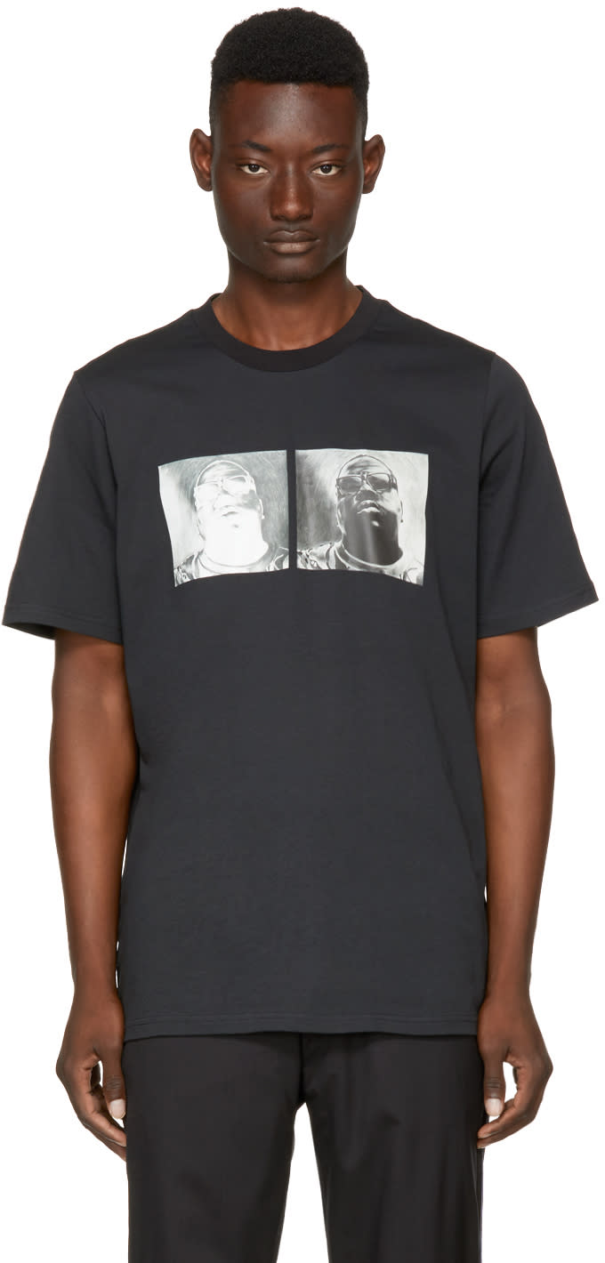 Image of Oamc Black S.o.s. Biggie T-shirt