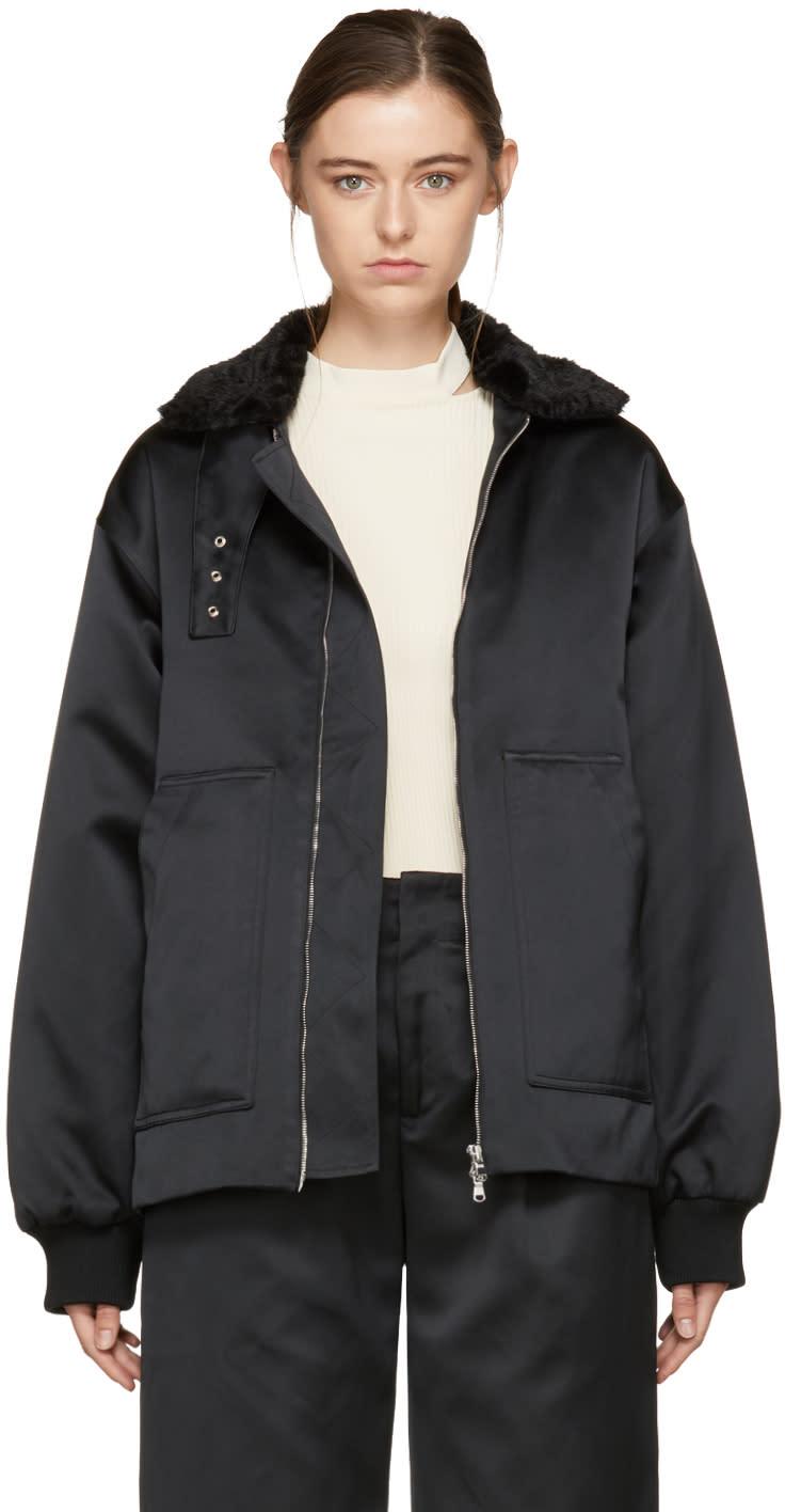 Image of Nomia Black Laced Bomber Jacket