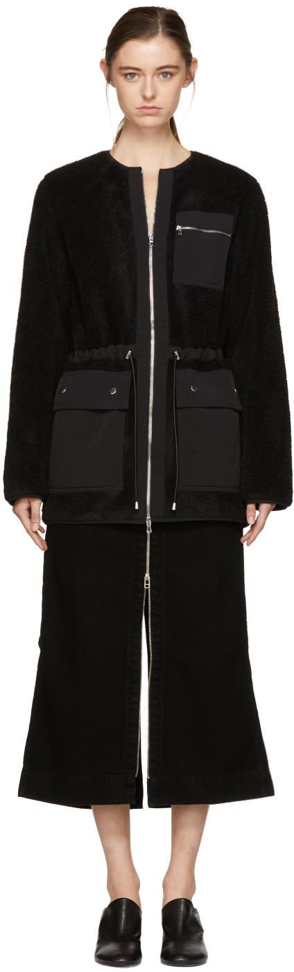 Image of Nomia Black Utility Sherpa Jacket