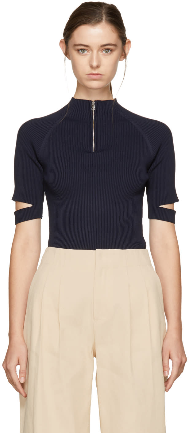 Image of Nomia Navy Zip-up Pullover