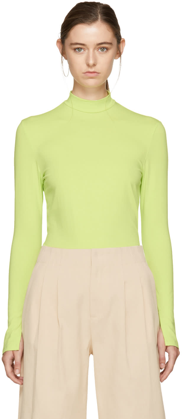 Image of Nomia Green Jersey Turtleneck