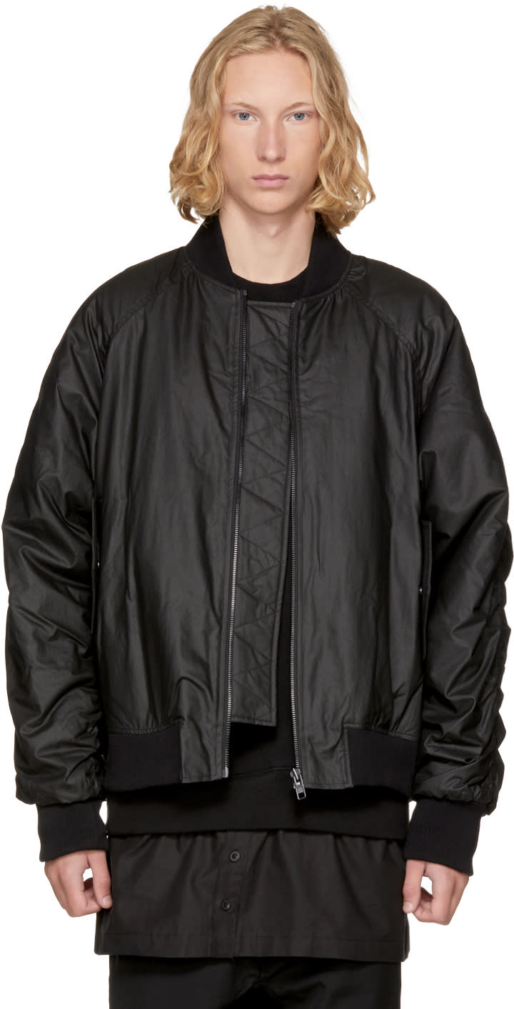 Image of D By D Black Back Strap Pocket Bomber Jacket