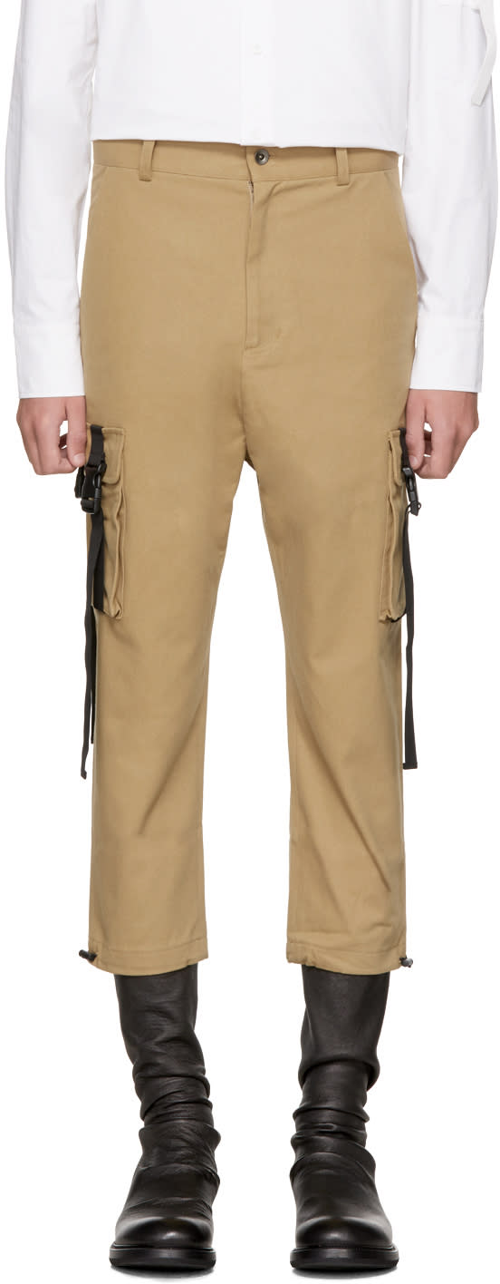 Image of D By D Beige Out Strap Pocket Cargo Pants