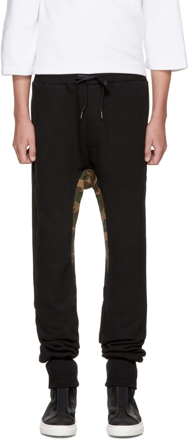 Image of D By D Black Camouflage Lounge Pants