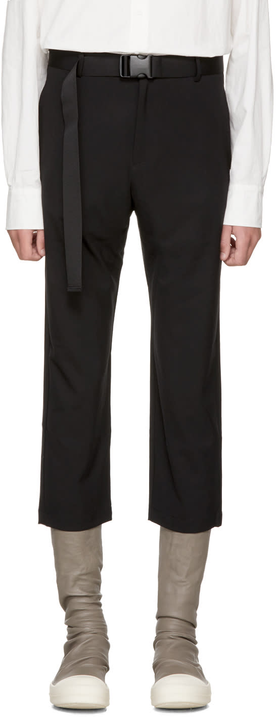 Image of D By D Black Belted Strap Trousers