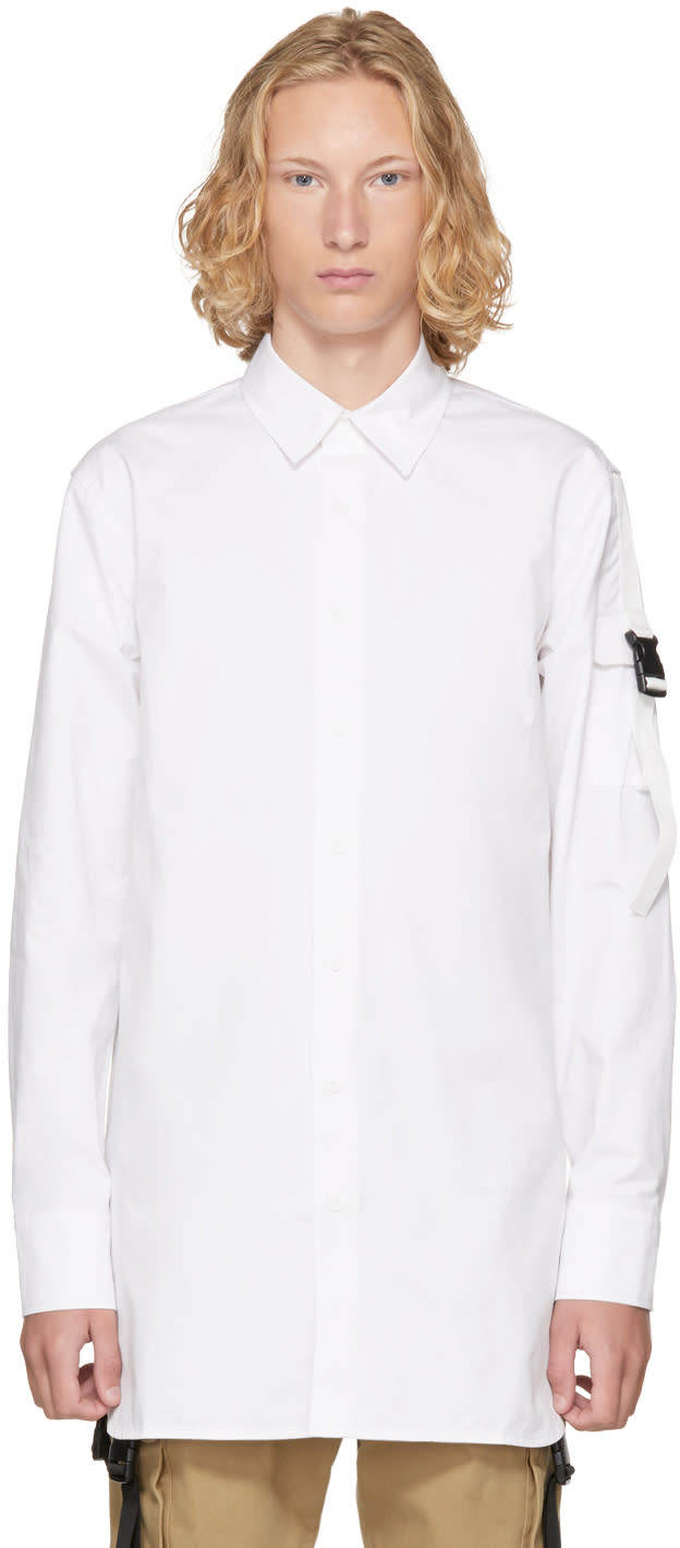 D By D Chemise Blanche Side Pocket Strap