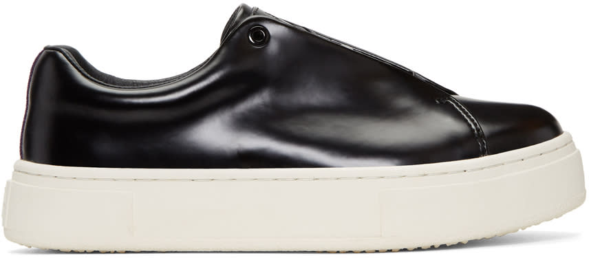 Image of Eytys Black Leather Doja Sneakers