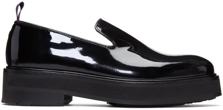Image of Eytys Black Patent Palacio Loafers