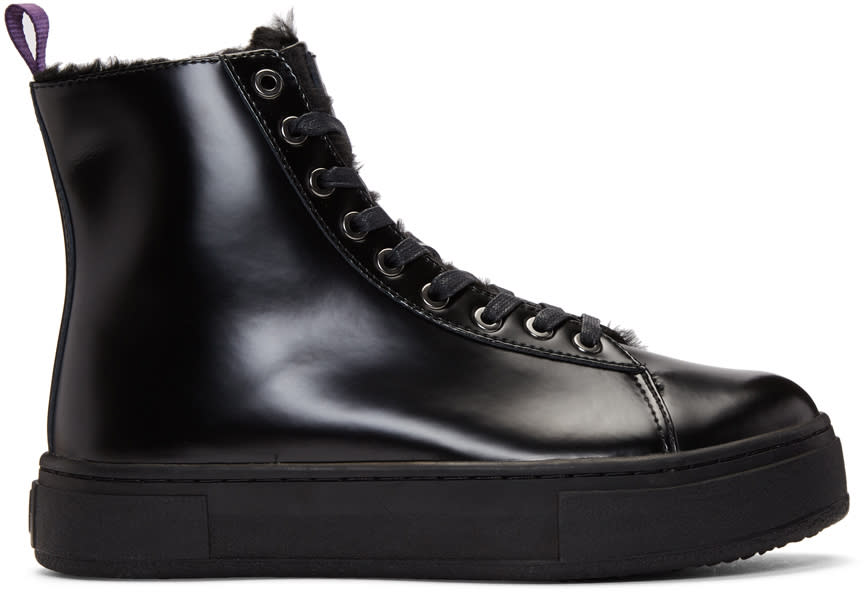 Image of Eytys Black Kibo Montana Lace-up Boots
