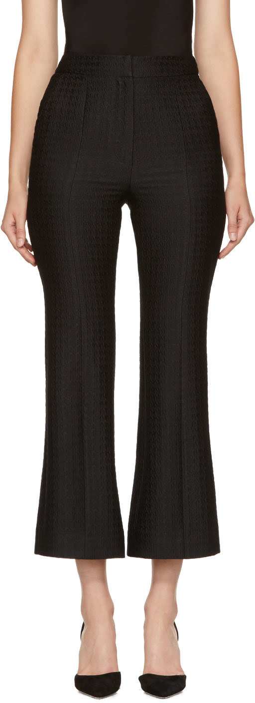 Image of Erdem Black Eda Flared Trousers