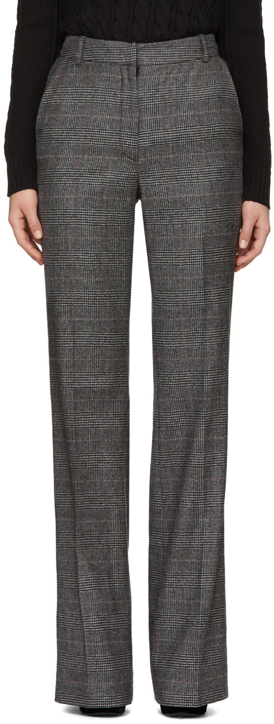 Erdem Grey Check Kaelin Trousers