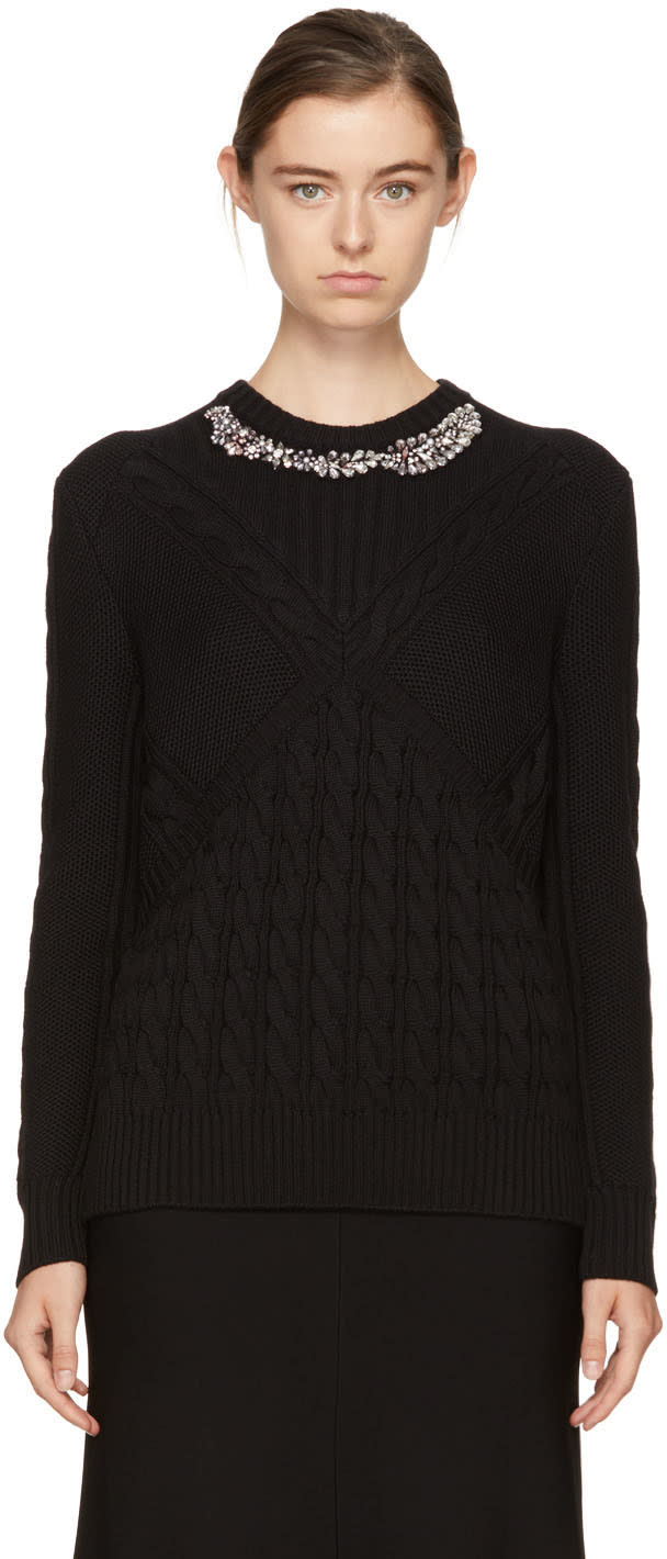 Image of Erdem Black Elsie Sweater