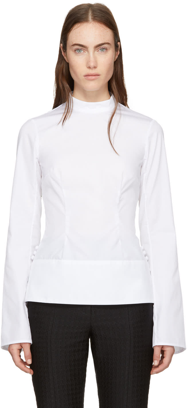 Erdem White Sharon Blouse